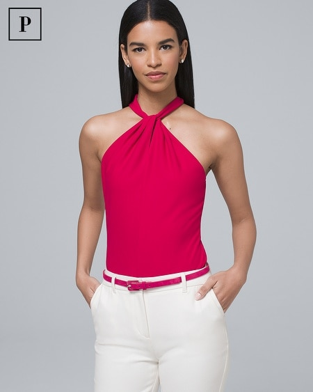 Petite Twisted Halter Top