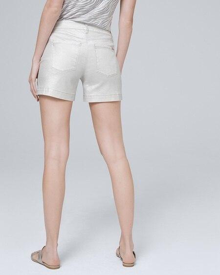 b8eee18bb0 White House   Black Market. 5-Inch Metallic Denim Shorts. 5-Inch Metallic Denim  Shorts