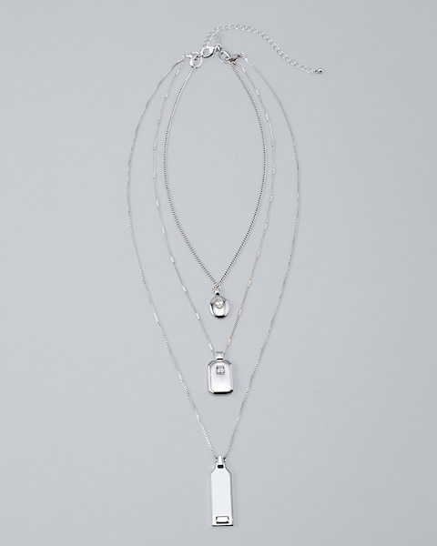 27f793d0c1f01 Convertible Multi-Row Pendant Necklace with Swarovski® Crystal