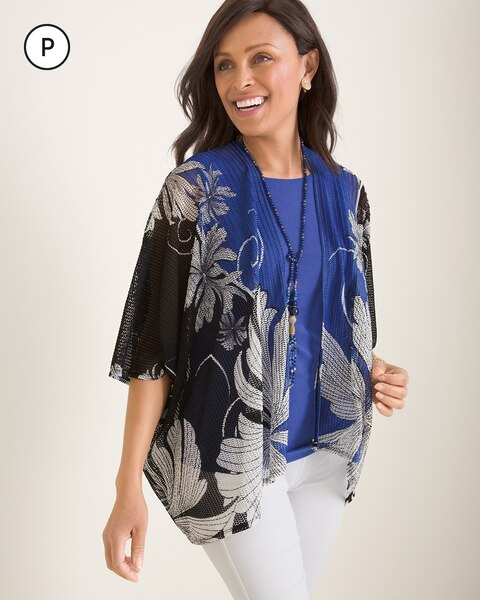 Travelers Collection Petite Floral Wheat Mesh Jacket