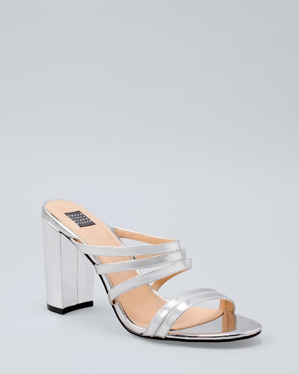 Specchio Leather Block-Heel Sandals