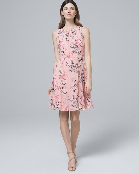 ef8e1a56644 Floral-Print Soft A-Line Dress