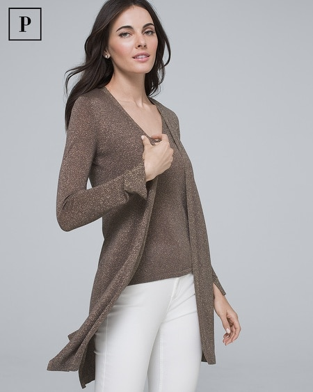 Petite Shimmer Midi Cover-Up Sweater