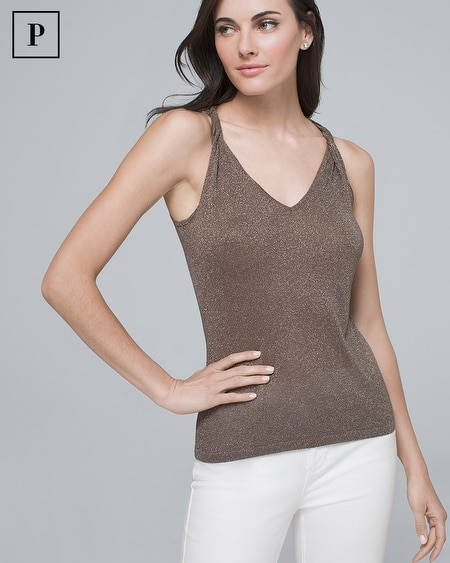Petite Shimmer Sweater Tank