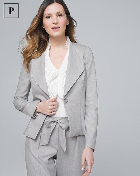 Petite Herringbone Suiting Blazer Jacket
