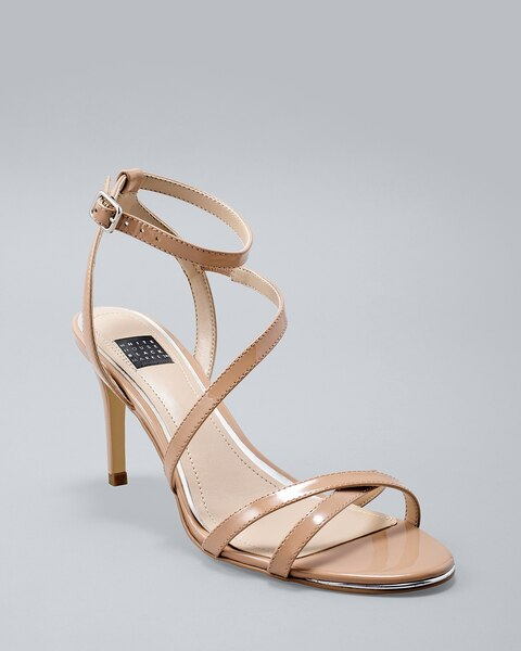 Patent Strappy Heels by Whbm