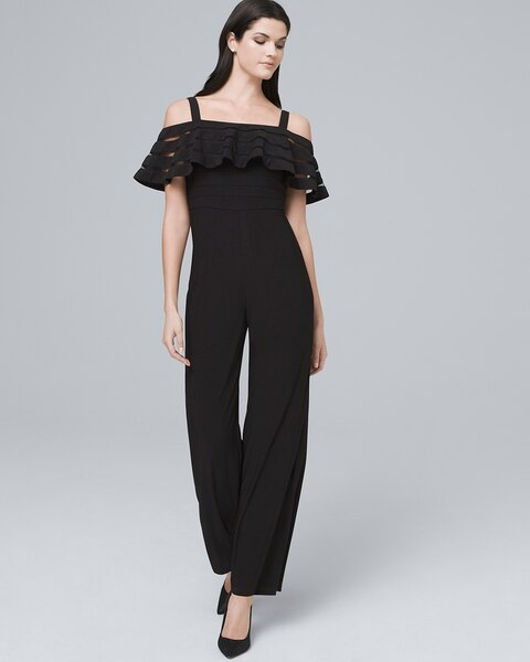 42329e60a08 Return to thumbnail image selection Cold-Shoulder Jumpsuit video preview  image