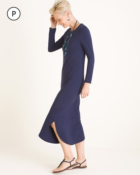 Petite Shirttail-Hem Dress