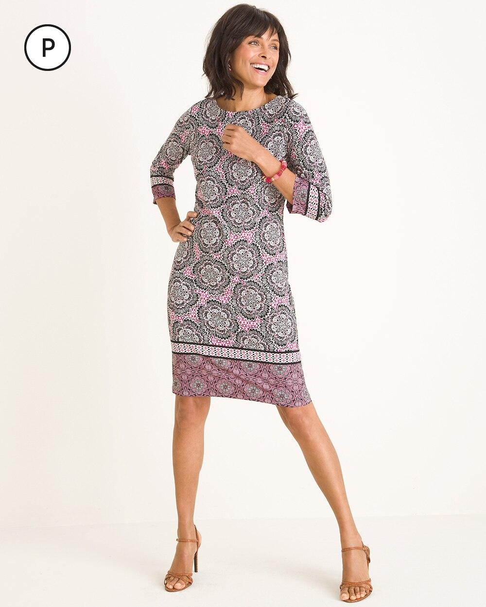 Petite Floral Mixed-Print Dress
