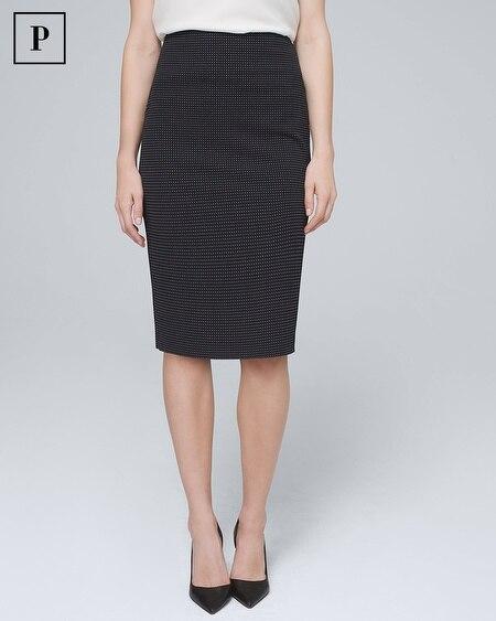 Petite Dot Pencil Skirt