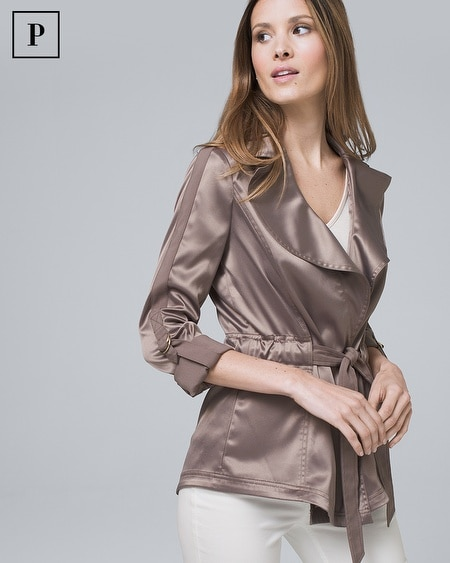 Petite Soft Jacket with Removable Belt