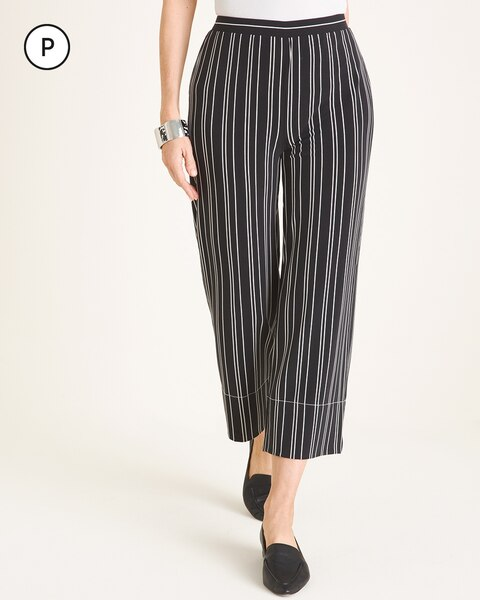 Travelers Collection Petite Striped Crop Pants