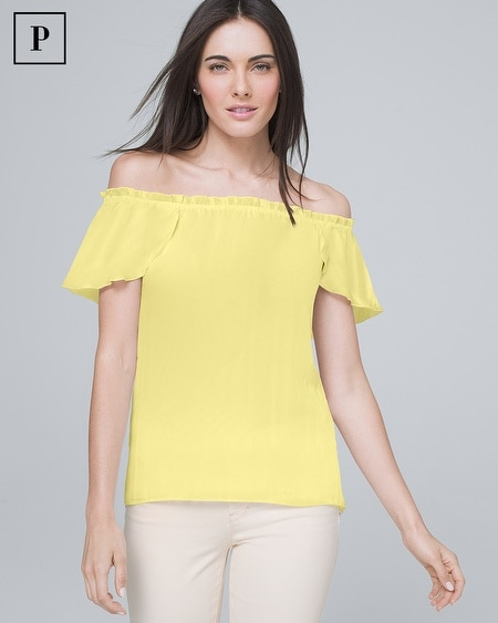 Petite Off-the-Shoulder Blouse