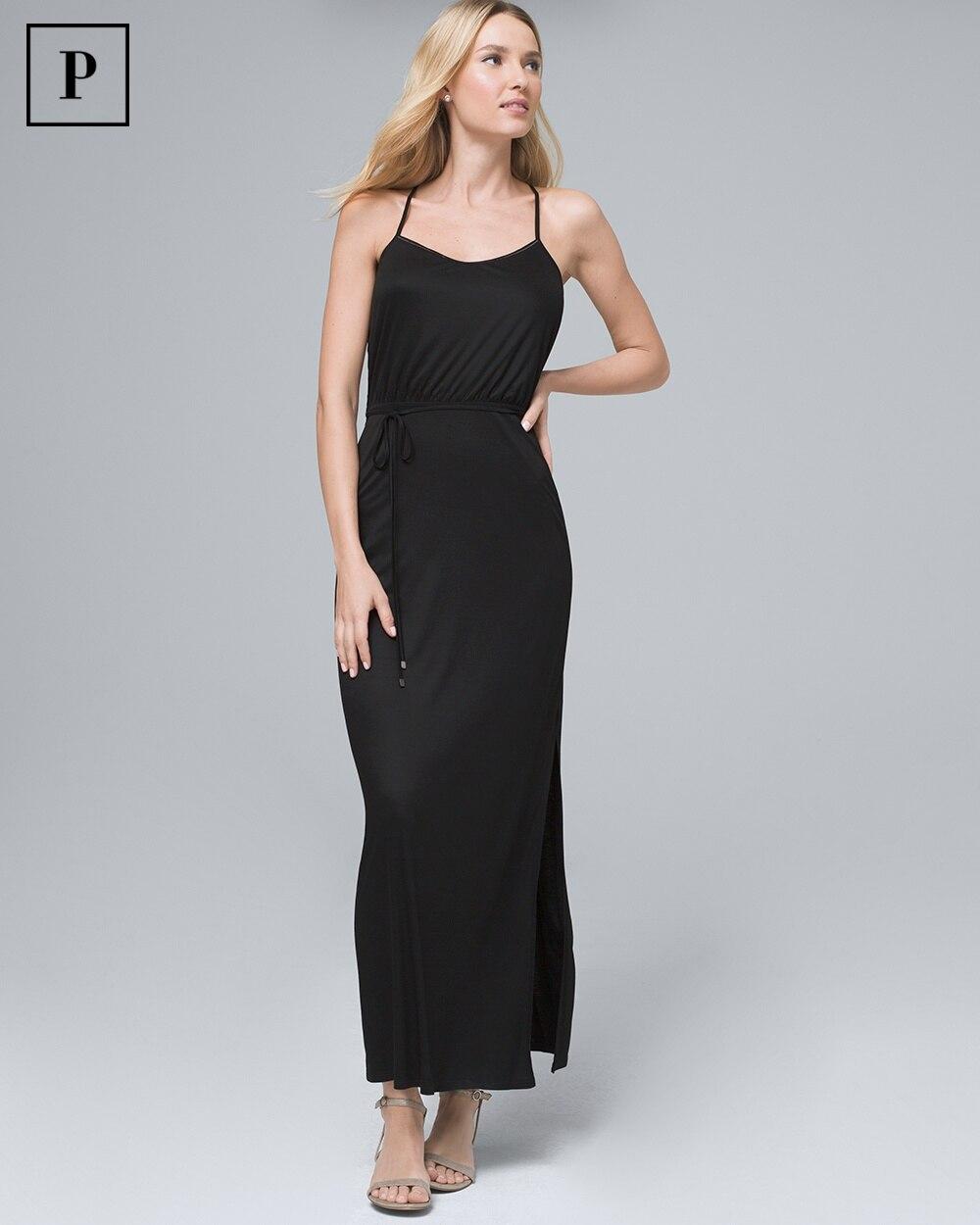 a04a9d0797e Petite Black Knit Maxi Dress - White House Black Market