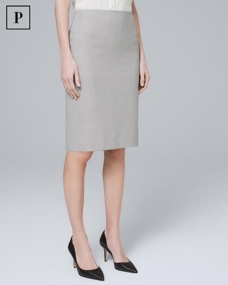 Petite Herringbone Pencil Skirt