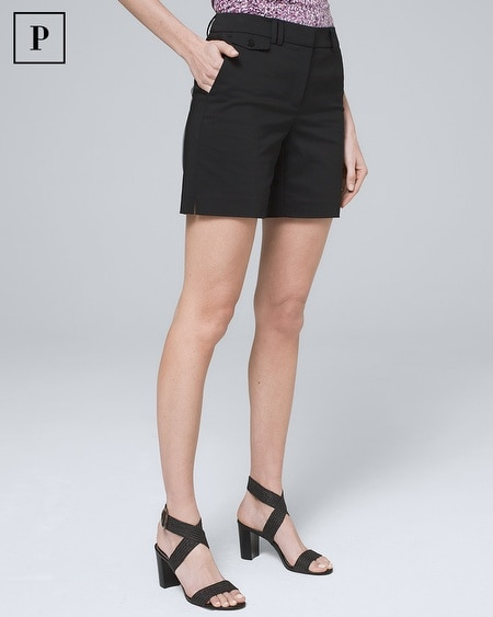 Petite 7-Inch Smooth Stretch Shorts