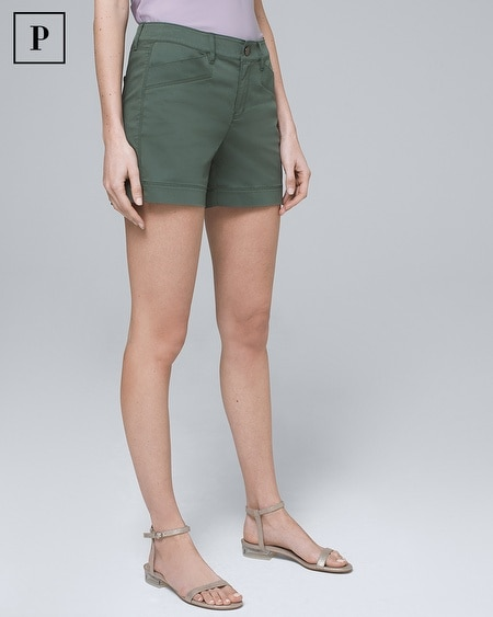 Petite 5-Inch Casual Sateen Shorts