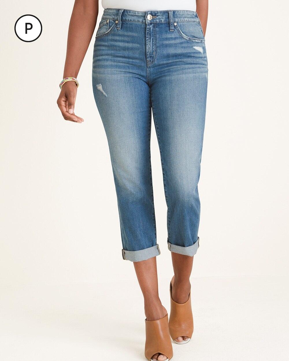 Petite Boyfriend Crop Jeans
