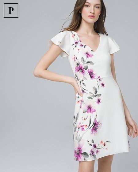 Petite Floral A-Line Dress