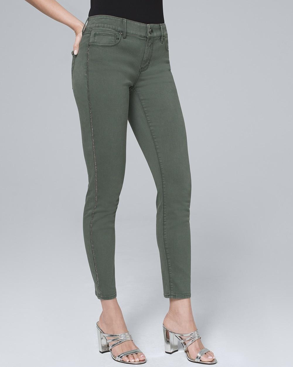 7b654f8ec51 Mid-Rise Embellished-Stripe Cropped Jeans - White House Black Market