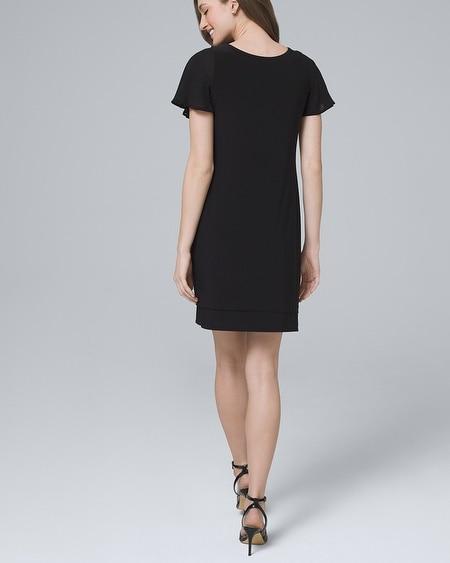 98be4e61be06 Ultimate Reversible Chiffon-Sleeve Knit Shift Dress