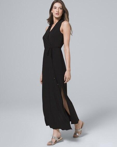 37e06f1af359 Polished Knit Black Maxi Dress