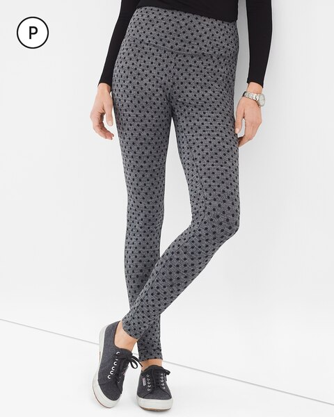 Zenergy So Slimming Petite Herringbone Dot Leggings