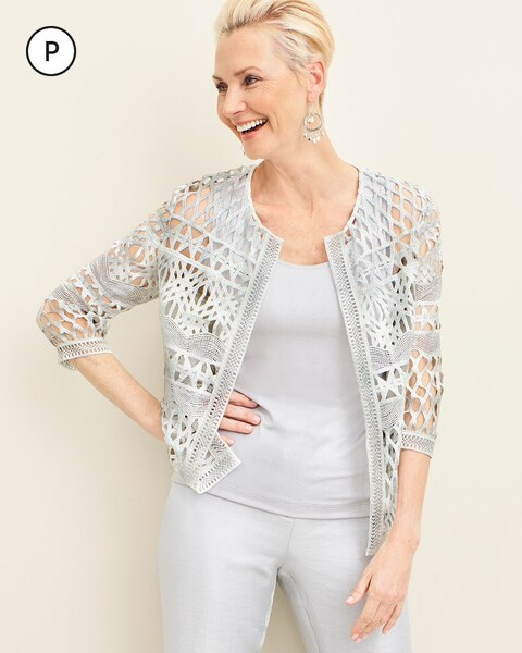 Travelers Collection Petite Foiled Strip Jacket
