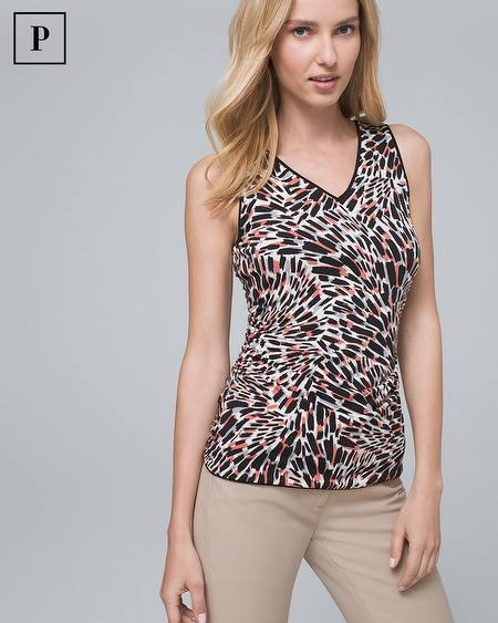 Petite Reversible Abstract/Solid Tank