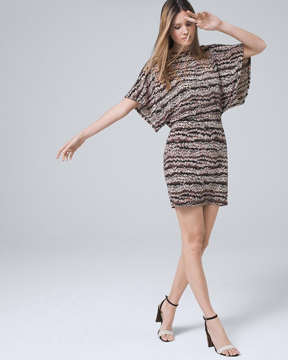 1c3b41d458 WHBM. Kimono-Sleeve Blouson Dress.  98.00  75.00 (23% OFF). BUY AT WHITE  HOUSE BLACK MARKET