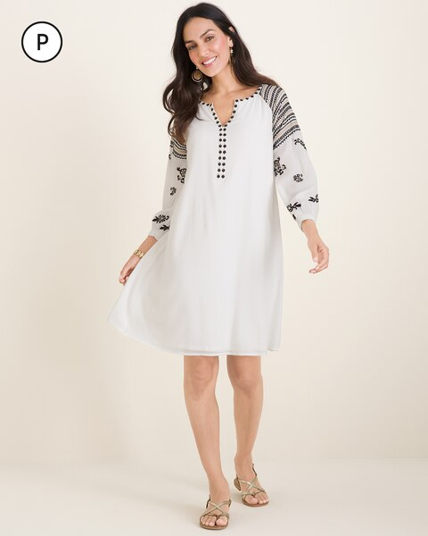 Petite Embroidered Dress