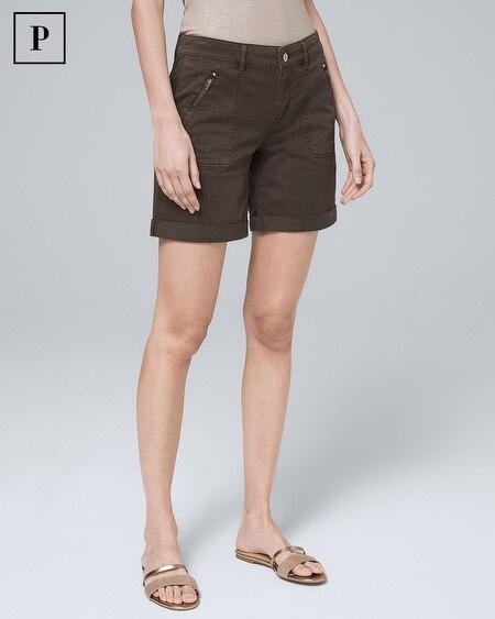 Petite 5-Inch Utility Shorts