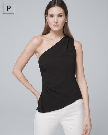 Petite One-Shoulder Bodice Top