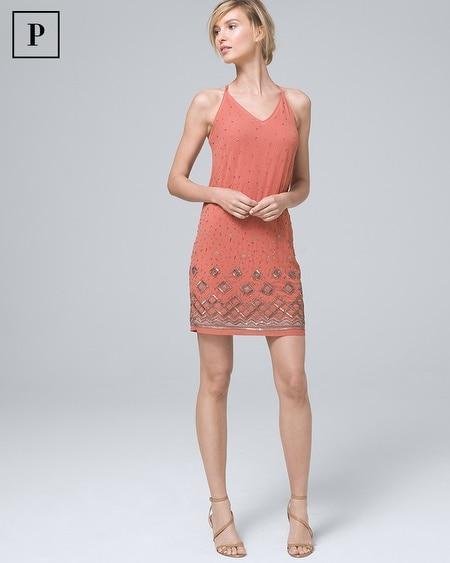 Petite Embellished Shift Dress