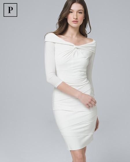 dd31415b Petite Instantly Slimming Boatneck Sheath Dress