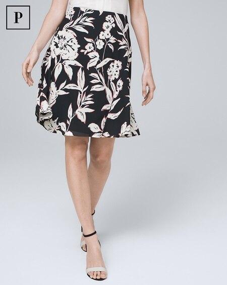 Petite Floral Soft A-Line Skirt