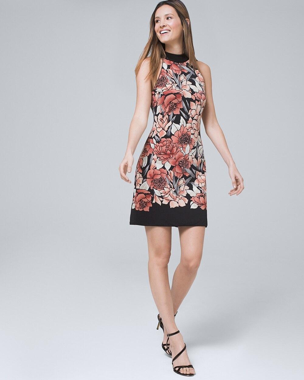 21fd7e899af2 Reversible Floral/Solid Shift Dress - White House Black Market