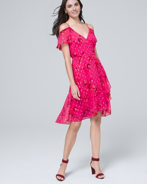 Floral Cold Shoulder Dress by Whbm