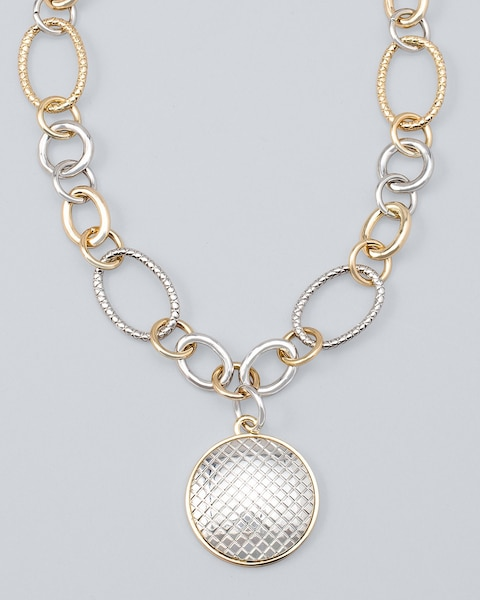 Mixed-Metal Pendant Necklace