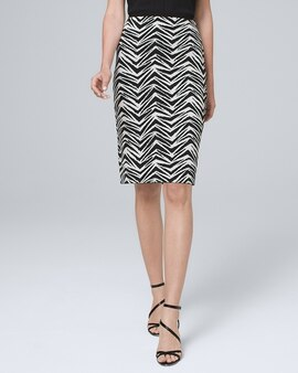 05ad9d80fd White House | Black Market. Reversible Abstract/Solid Pencil Skirt