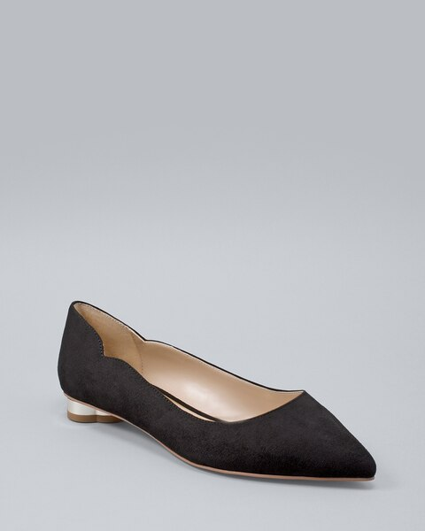 Goldtone Heel Flats by Whbm