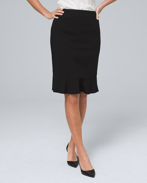 Body Perfecting Flounce Pencil Skirt