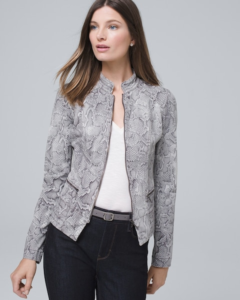 Snake Moto Jacket by Whbm