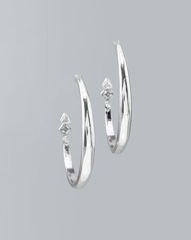 3c182af0d Station Hoop Earrings with Crystals from Swarovski®