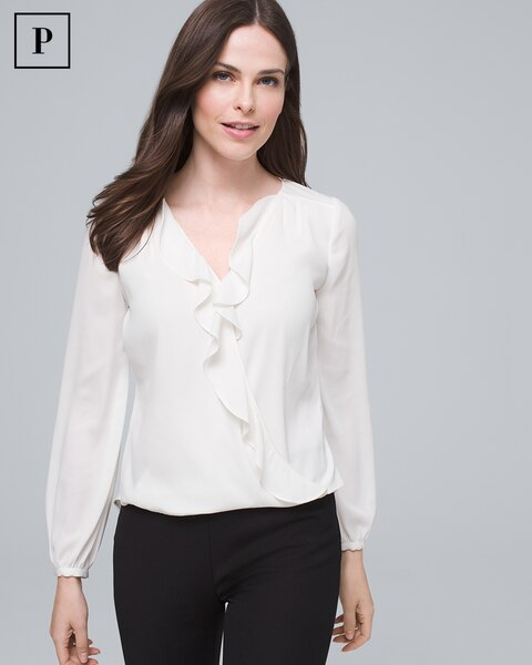 Petite Ruffle Surplice Top by Whbm