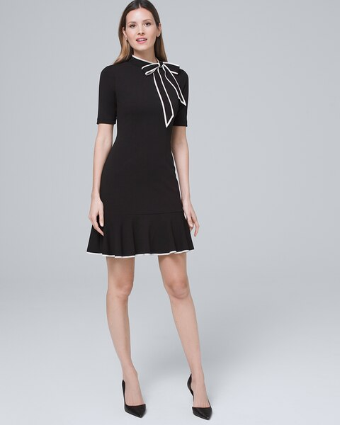 Tie Neck Sheath Dress by Whbm