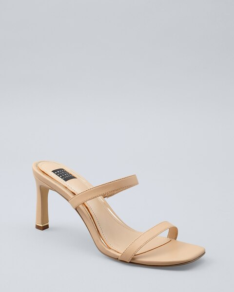Barely-There Strappy Heels - White