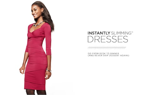 INSTANTLY SLIMMING: Dresses