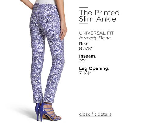 The Printed Slim Ankle