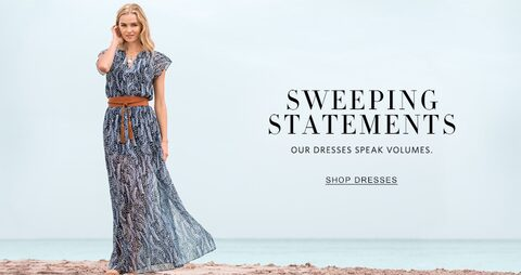 Sweeping Statements | Our dresses speak volumes. | Shop Dresses